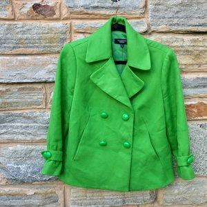 Bright Green Talbots Jacket Size 8